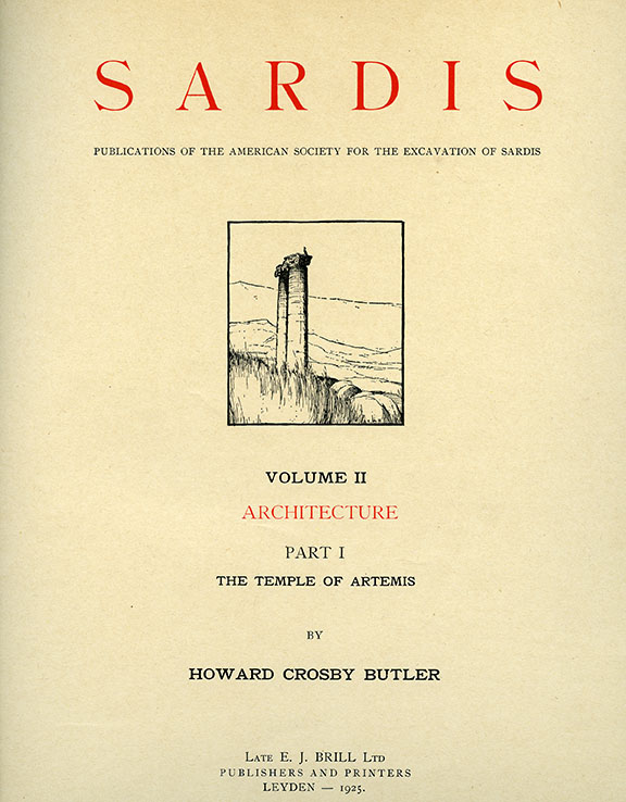 Sardis Volume II: Architecture, Part I: The Temple of Artemis (Text)